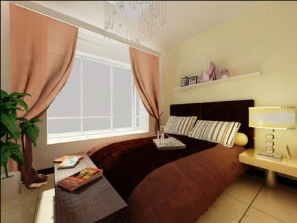 现代简约二居室卧室飘窗装修效果图欣赏