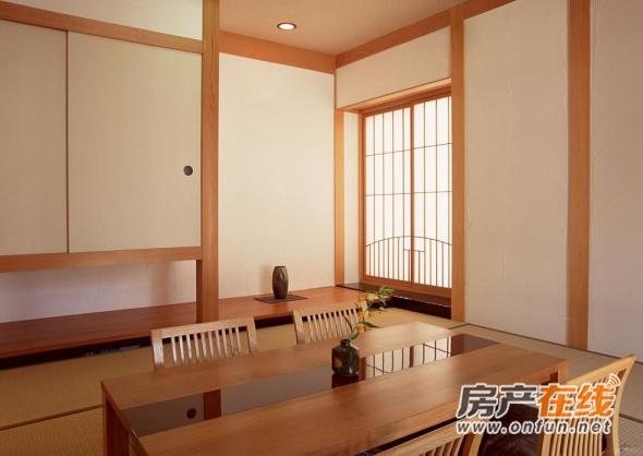 清新原木色餐厅日式装潢效果图欣赏