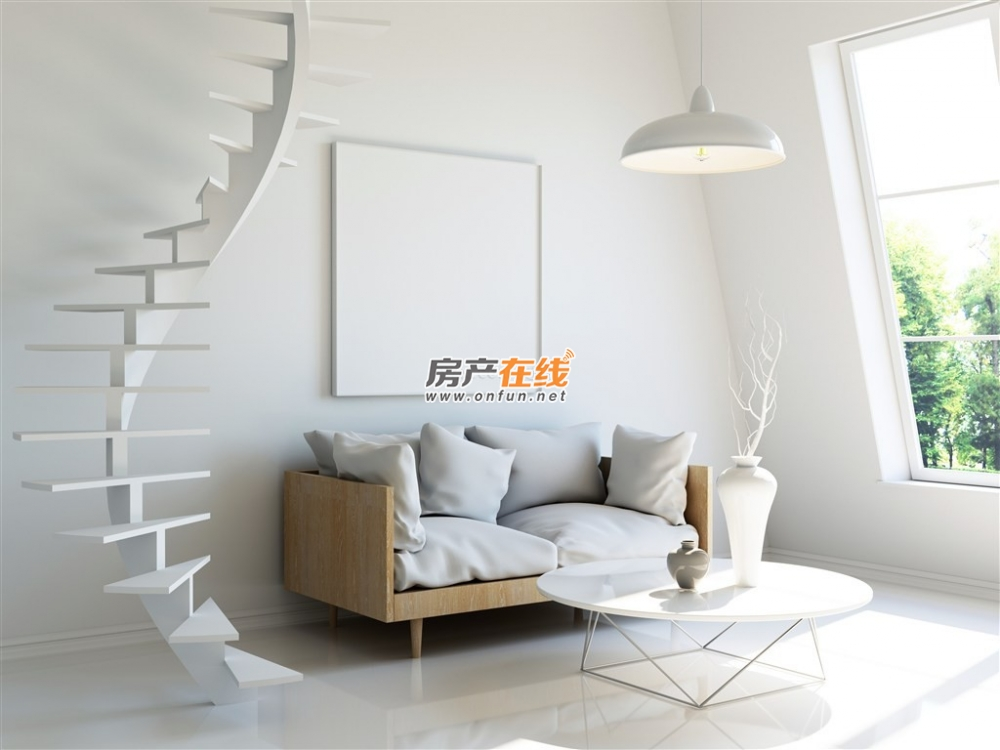 极简欧式客厅楼梯装修效果图图片