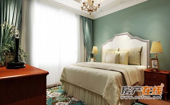 卧室-日式-窗帘