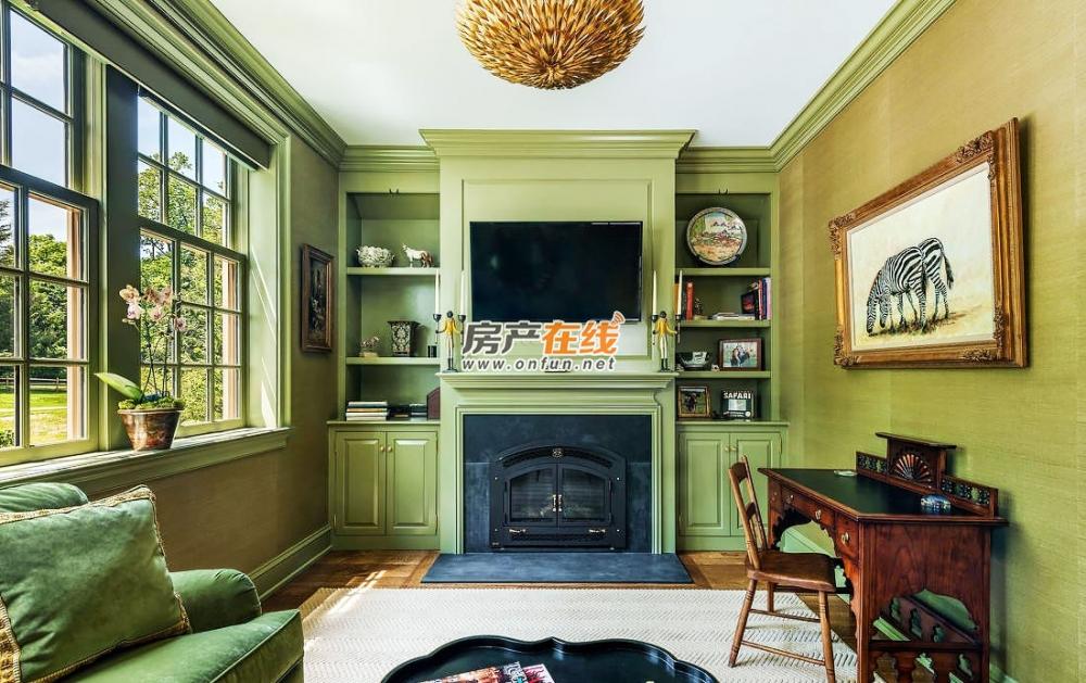 精致美式客厅壁橱图大全_十堰装修效果图-十堰房产在线
