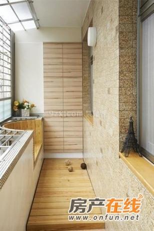 阳台-日式-榻榻米